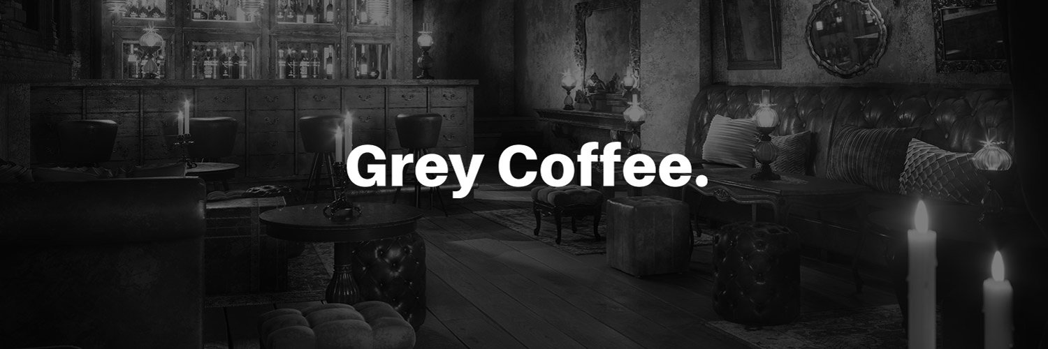 Grey Coffee Black and White Banner Visual