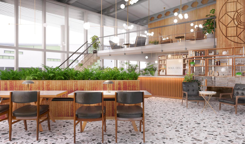 Soul Deli - Interior Transformation Project Visual 2 - Grey Coffee