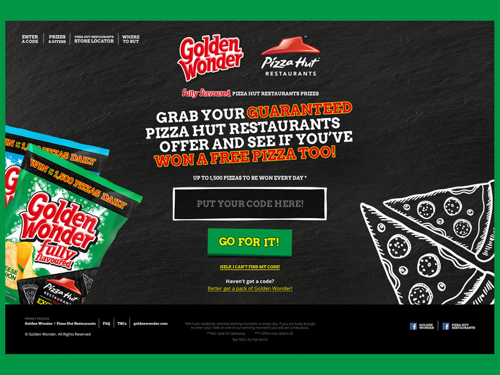 Golden Wonder - Pizza Hut Campaign Image