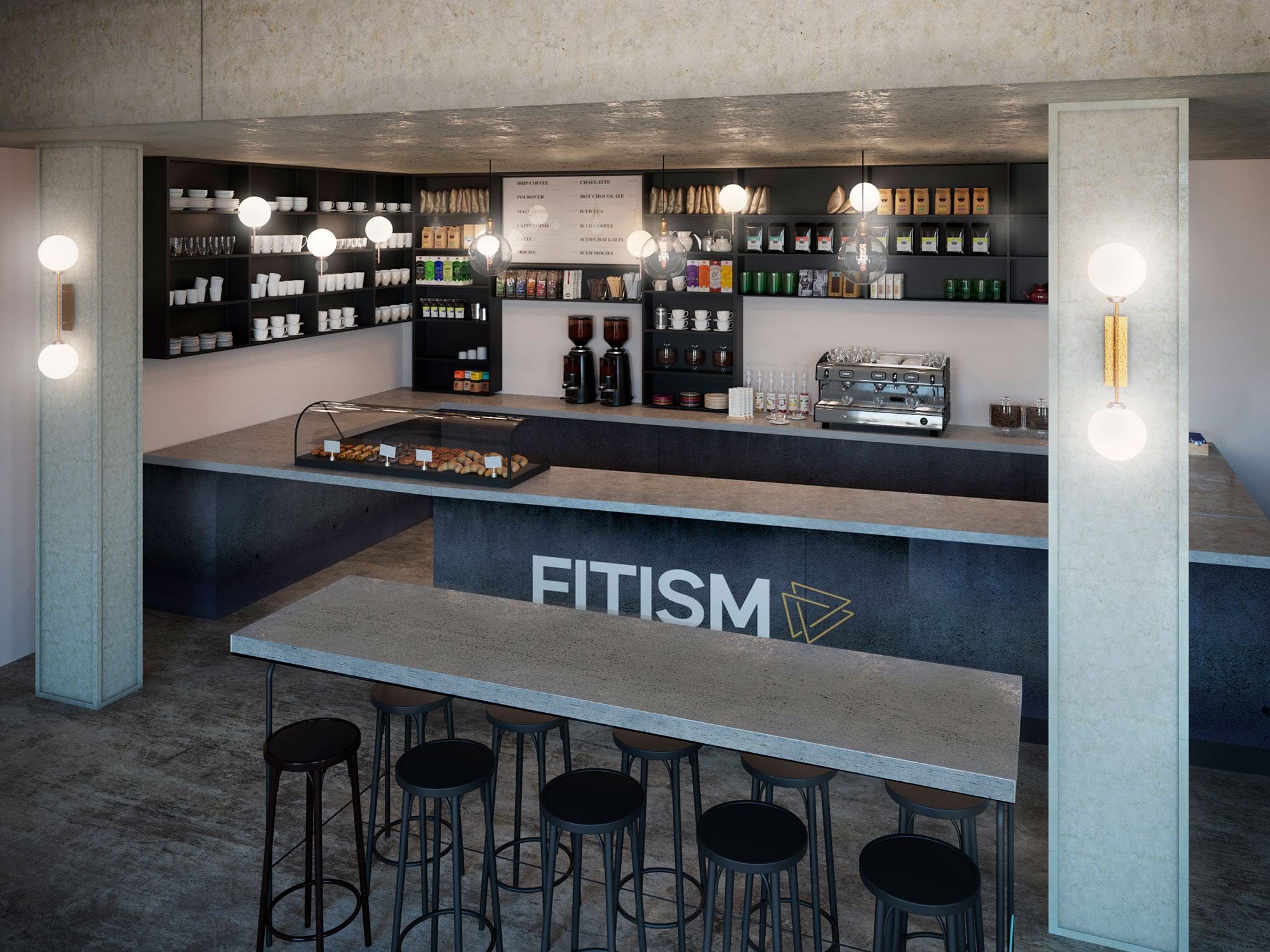 Fitism - Interior Transformation - Project Visual 2 - Grey Coffee