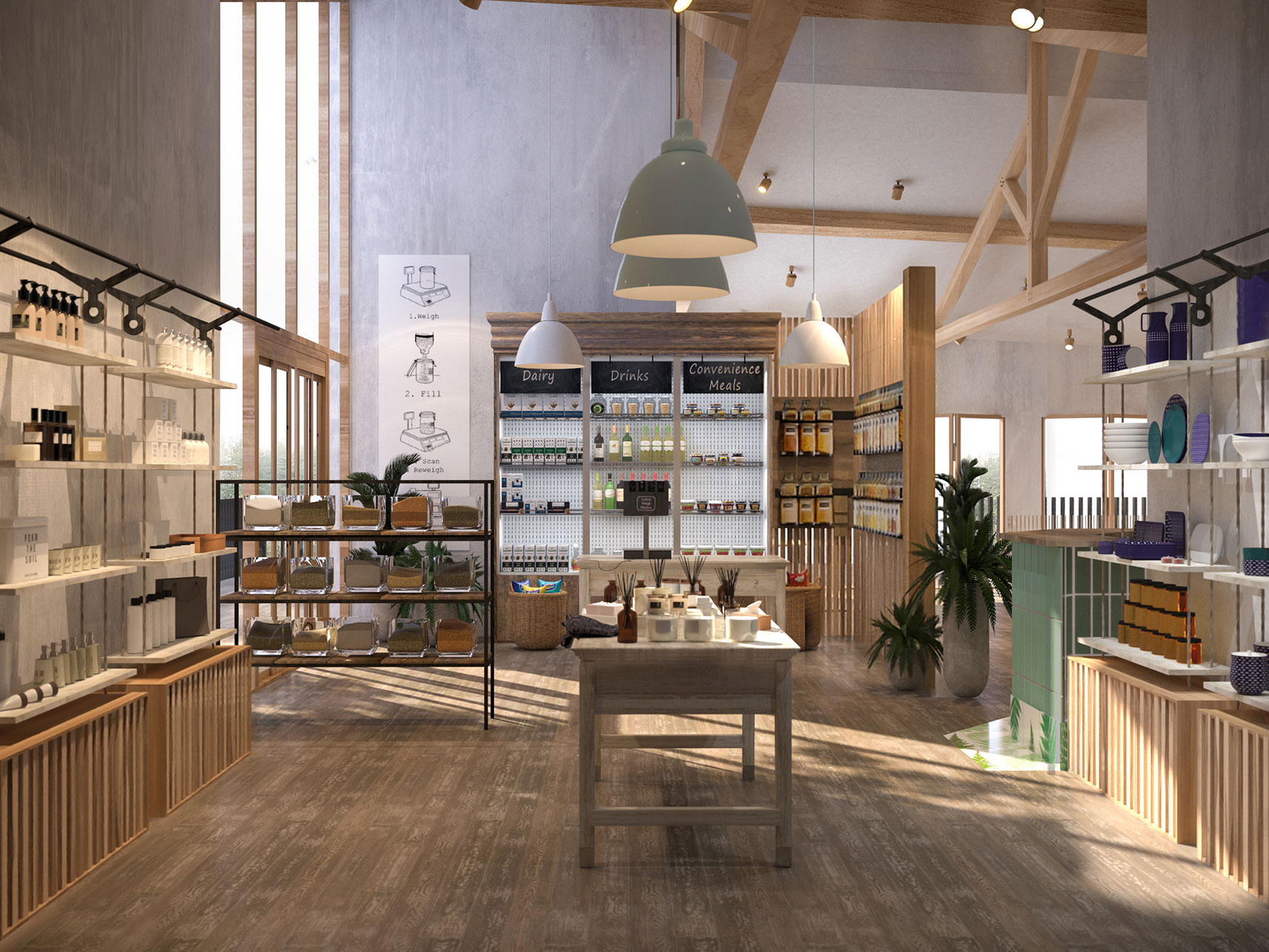 Forest Holidays - Interior Transformation - Delamere Forest Project Visual 1 - Grey Coffee
