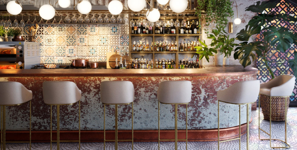 Interior Concept - Pistachio - Project Visual Bar & Restaurant - Grey Coffee